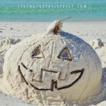 Sand Pumpkin Jack O'Lantern - Living Porpoisefully