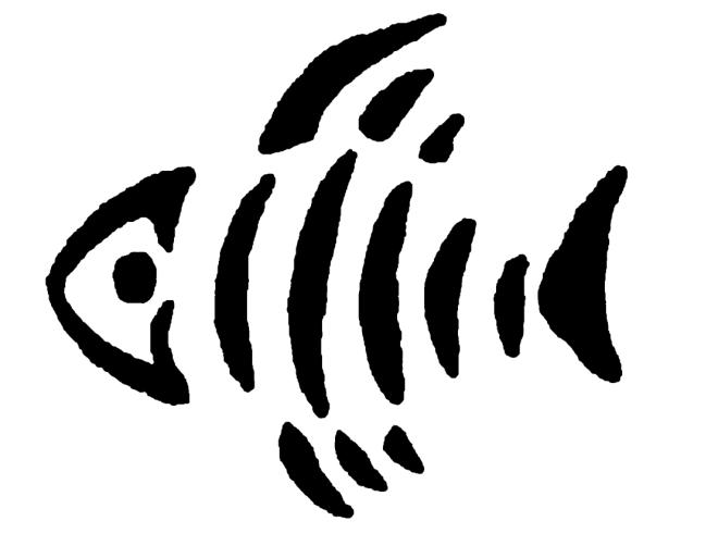 Fish Skeleton Stencil