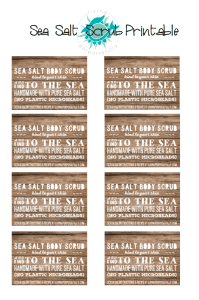 sea salt scrub printable