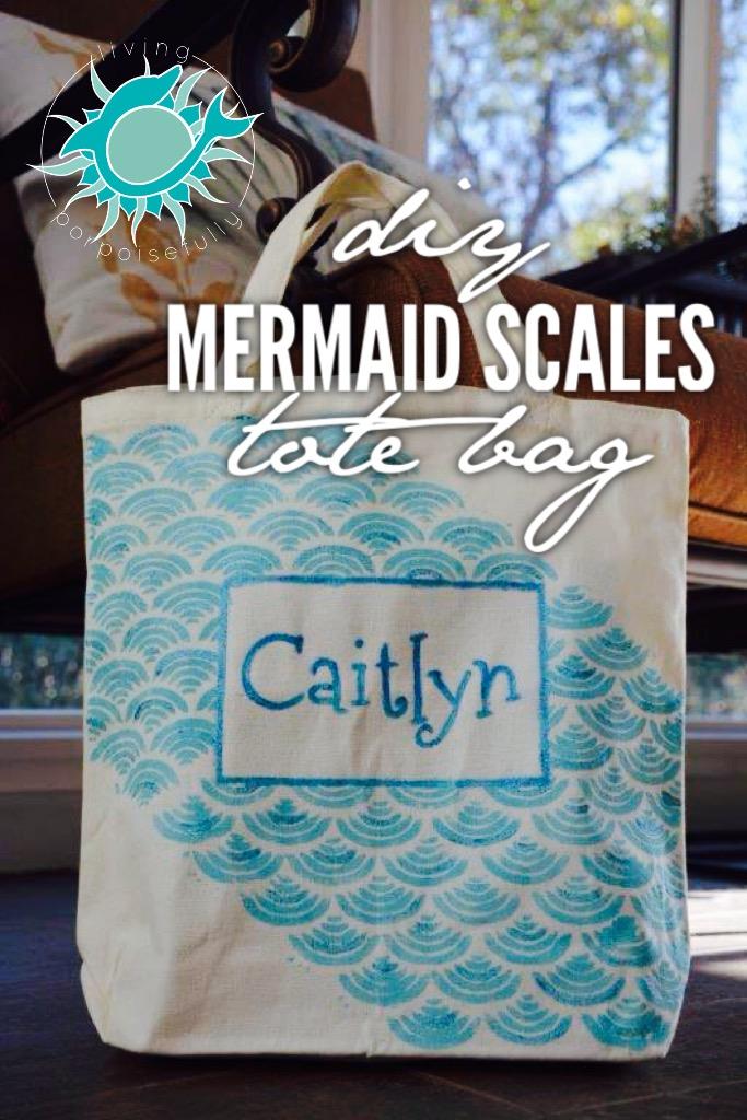 Diy Mermaid Scales Tote Bag Living Porpoisefully