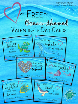 free ocean themed valentines day cards