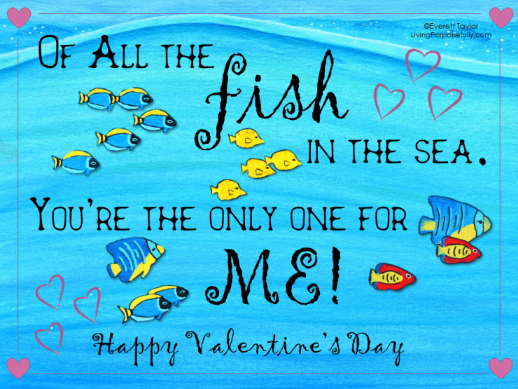 ocean valentine - only fish in the sea (color)