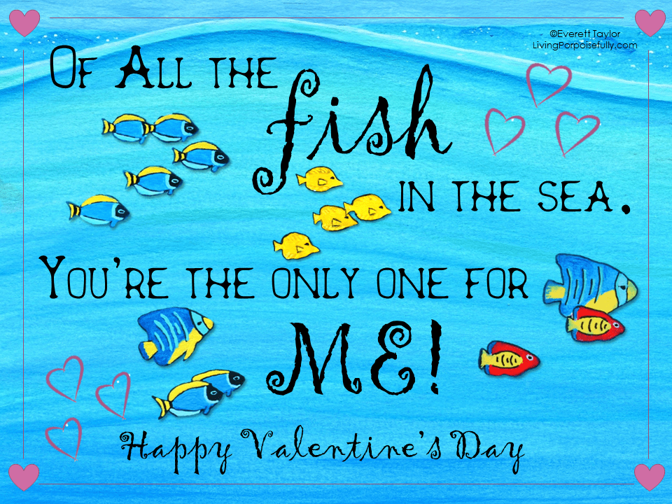 Ocean valentine s day greetings freebie living for All the fish in the sea