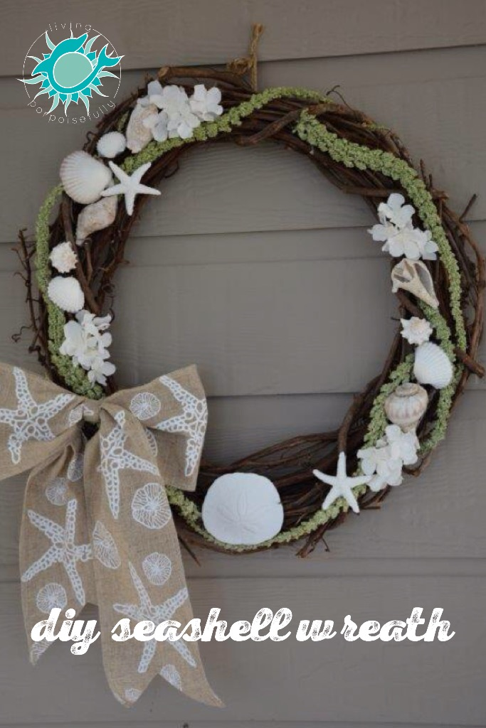DIY Seashell Wreath 2