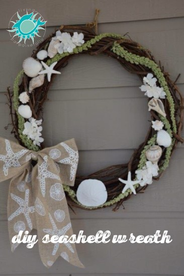 DIY Seashell Wreath 2