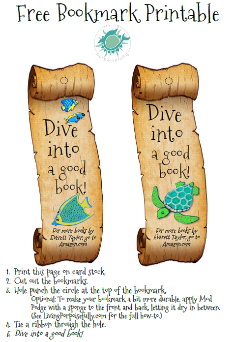 ocean bookmark printable 2