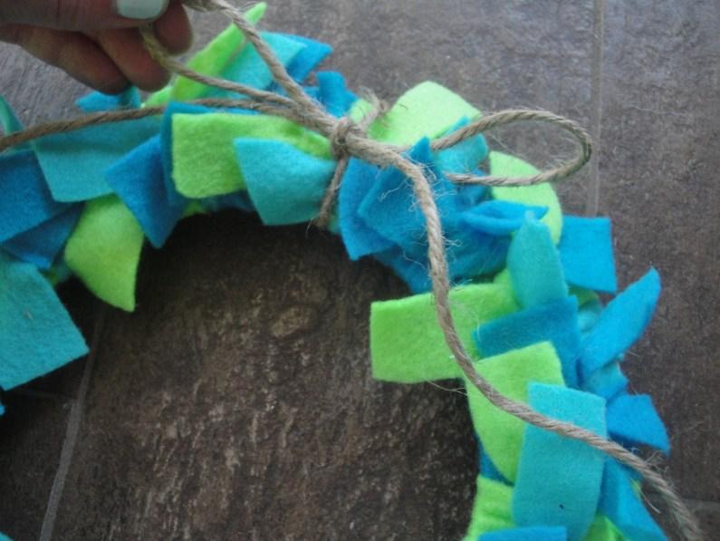 Earth Day wreath step 4b