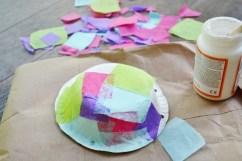Step 1b Jellyfish Craft Kit - add tissue paper pieces