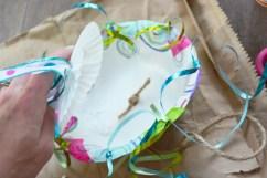 STep 4 Jellyfish Craft Kit - glue on cupcake liner 2
