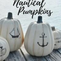 DIY Nautical Pumpkins