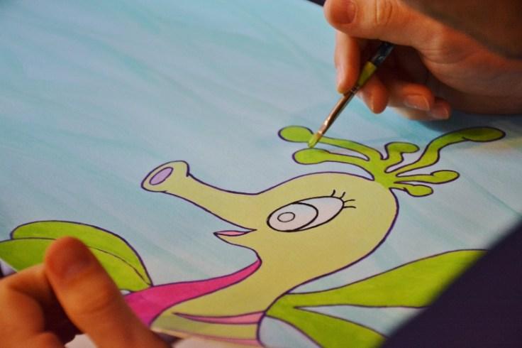 Mira the Misfit Sea Dragon - illustrating by Everett Taylor