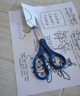 seahorse sea dragon craft - printable stencil