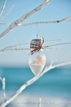 Seashells and Sand Coastal Ornament