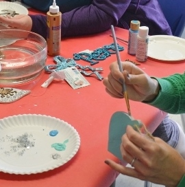holiday ornament crafting