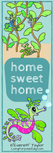 home sweet home - Mira the Misfit Sea Dragon bookmark color