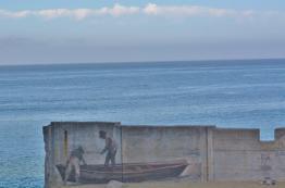 Wall Mural on Cannery Row beach - Monterey Bay