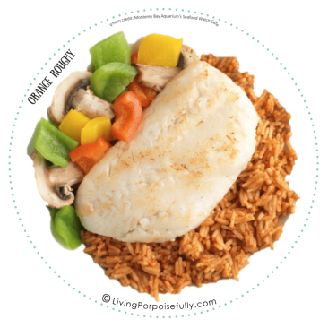 Orange Roughy plate front