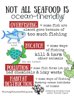 Printable Resource Page - Not all seafood is ocean friendly by Living Porpoisefully