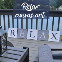 DIY RELAX Canvas Art Craft