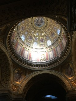 48 hours in Budapest. Image of the dome inside St Stephen's Basilica