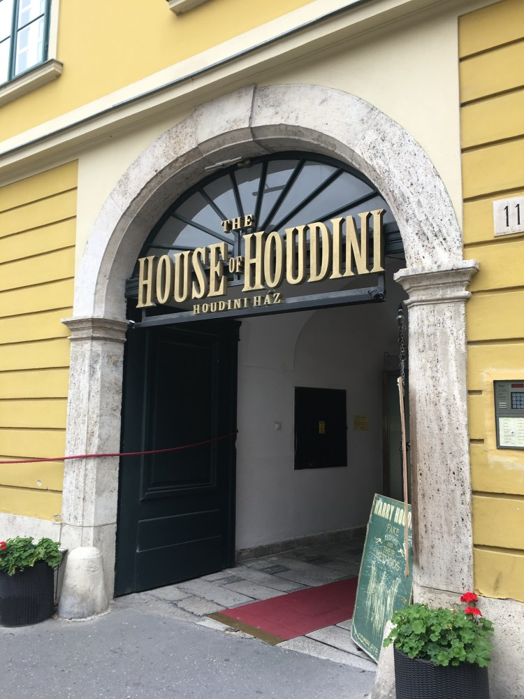 5 Thing to do in Buda, Budapest. Image of the entrance to the House of Houdini