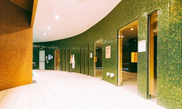 The rise of the leisure centre spa (Verulamium Spa, St Albans) Image of saunas and steam rooms at this spa