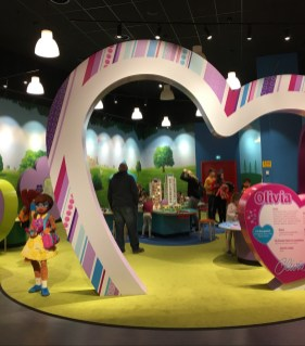 Happy Days: Legoland Discovery Centre Birmingham. Image of the entrance to the Lego Friends section of the centre
