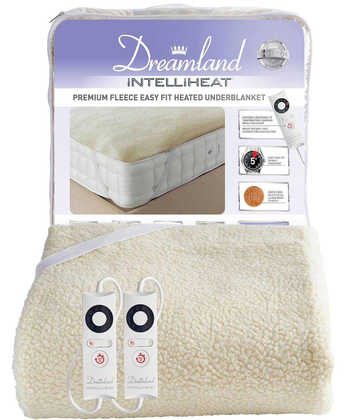 Sleep well: How to win at sleeping! (and why you should want to). How to get a better night's sleep. Image of Dreamland Intelliheat dual controlled electric blanket