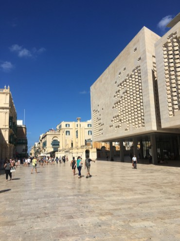 Happy Travels: Where you absolutely should go in Malta. Images of modern Valletta - new stairs and parliament building