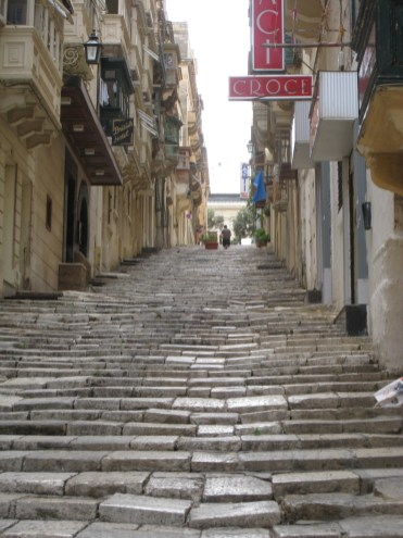 Happy Travels: Where you absolutely should go in Malta. A side street in Valletta