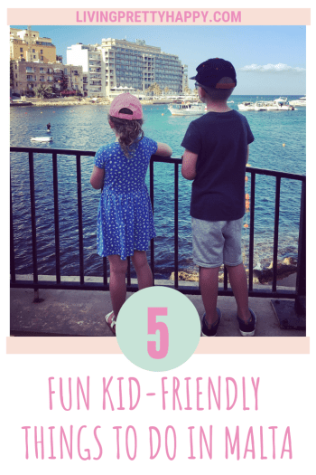 5 fun kid-friendly things to do in Malta. What do in Malta with kids. 5 family friendly activities to enjoy on your holiday to Malta. Family days out in Malta, Europe. #familyfun #malta #maltaholiday #kidsmalta