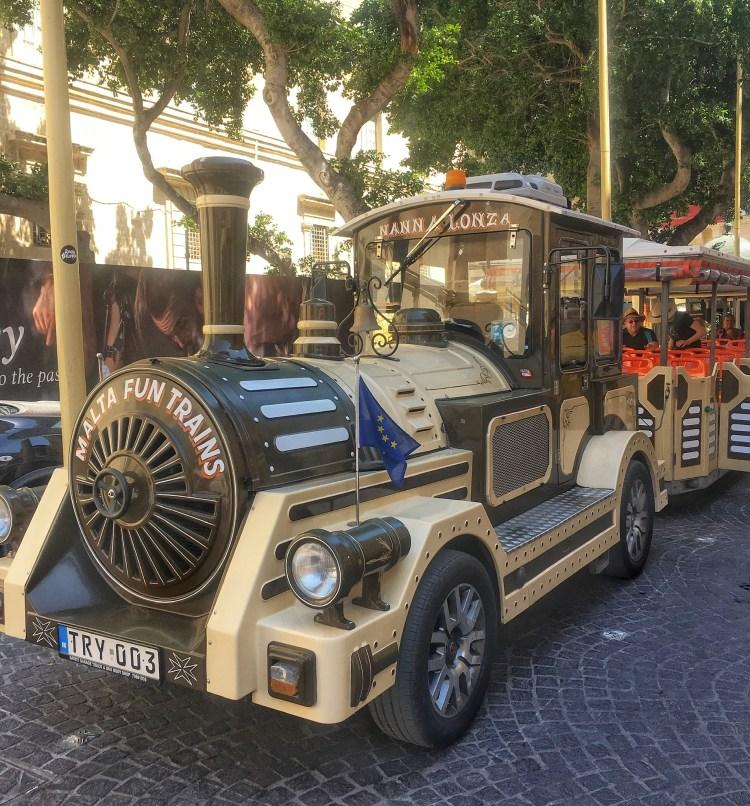 5 Fun kid-friendly things to do in Malta.  Image of Malta Fun Train