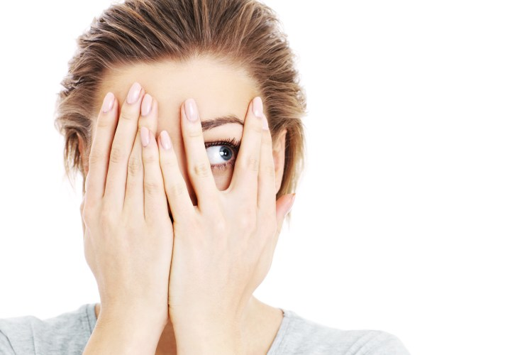 Catastrophe to calmness: a technique to stop catastrophizing. Image of her eyes over white background