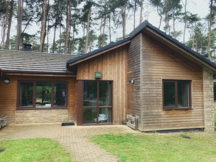Happy Travels: Center Parcs Woburn Forest. Exterior of one of the lodges