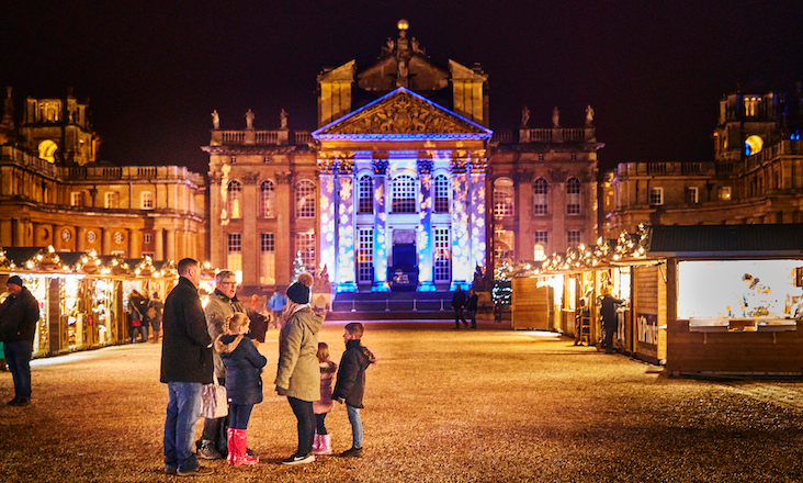 The Christmas at Blenheim Palace experience. Credit: Richard Houghton