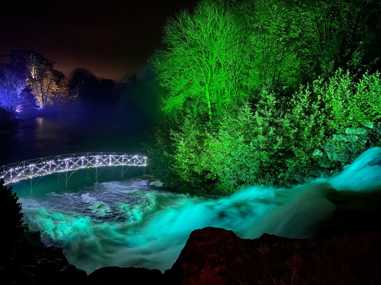 A beautiful scene in the Illuminated Lights Trail @ Blenheim Palace