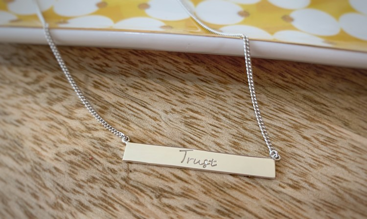 Mantra Jewellery Trust Bar Necklace