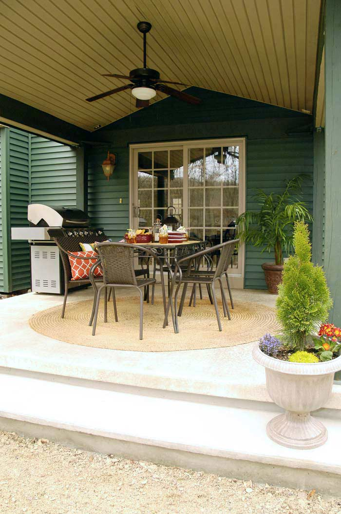 Budget-friendly backyard patio reveal   Living Rich on Less on Budget Friendly Patio Ideas id=42761