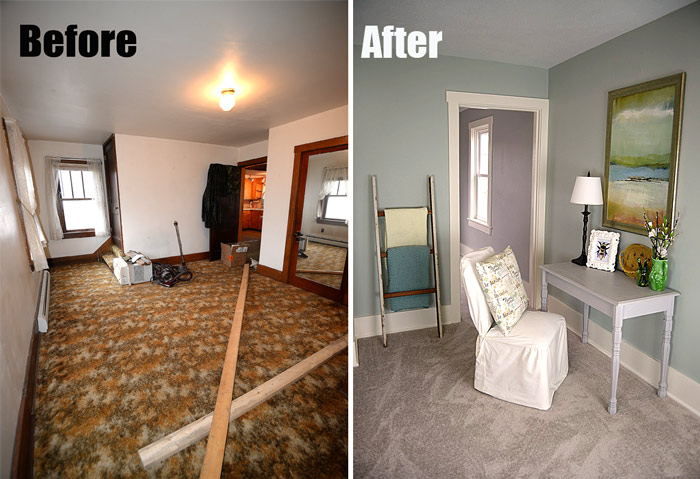 Bedroom Before And After At The Flip House Living Rich