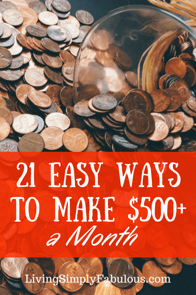 If you are looking for ways to make extra money, here are 21 surprisingly easy ways to make an extra $500 a month. No matter if you're looking for a side hustle or a way to make money from home, you'll find ideas here.