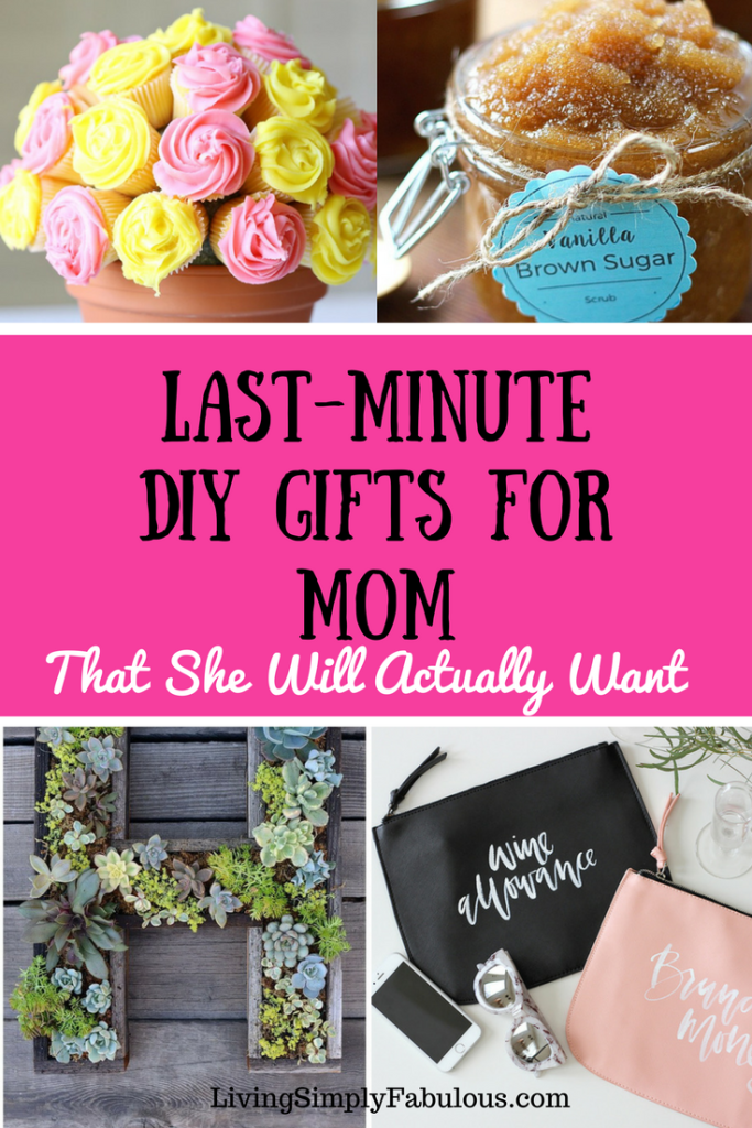 Need a quick and budget friendly gift for mom for Mother's Day or her birthday? If so, here are 9 cute last minute DIY gifts for mom that she will absolutely love.