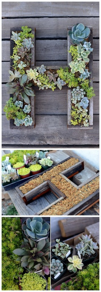 succulent letter planter diy gift for mom