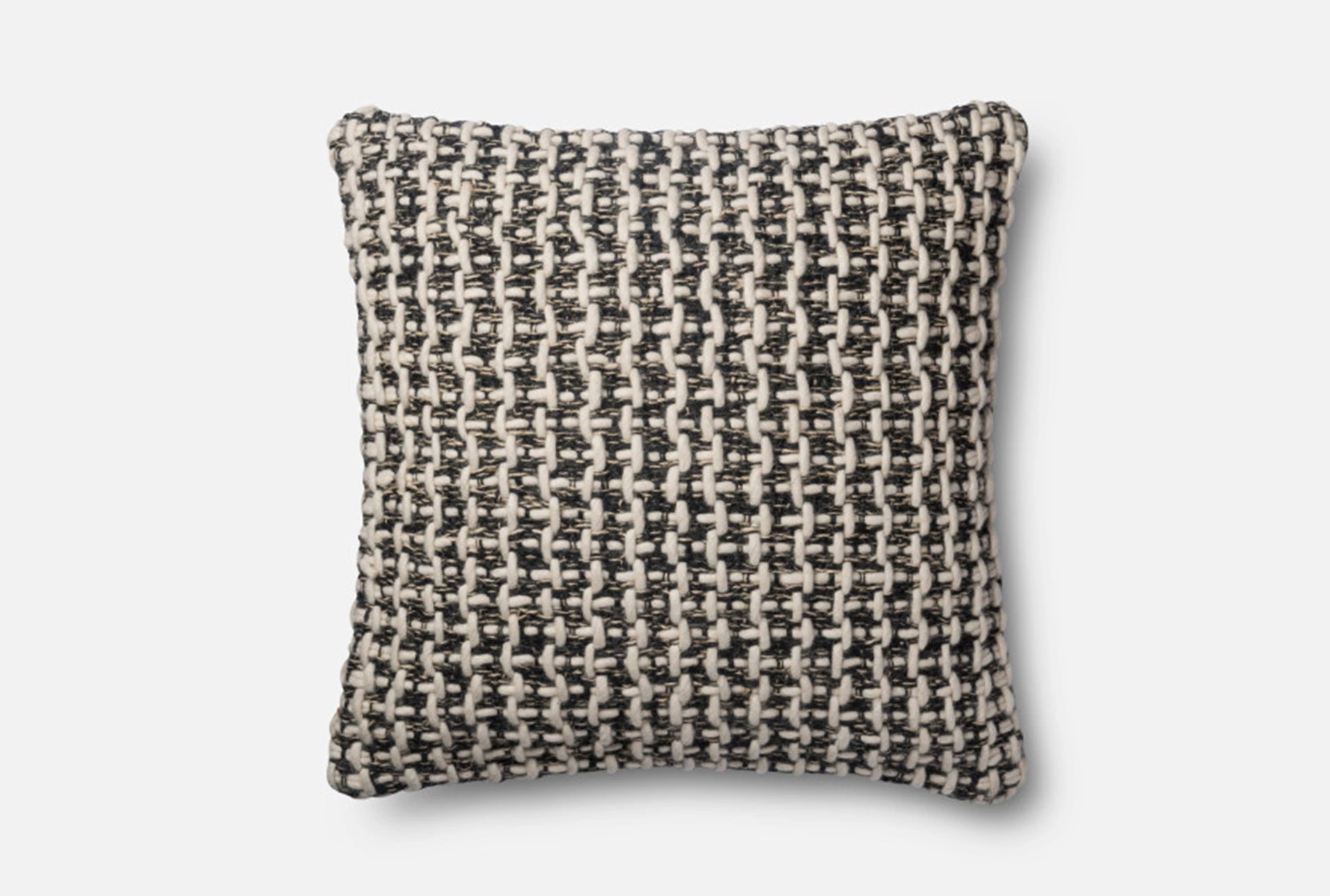 Accent Pillow-Magnolia Home Black/White Tweed 22X22 By