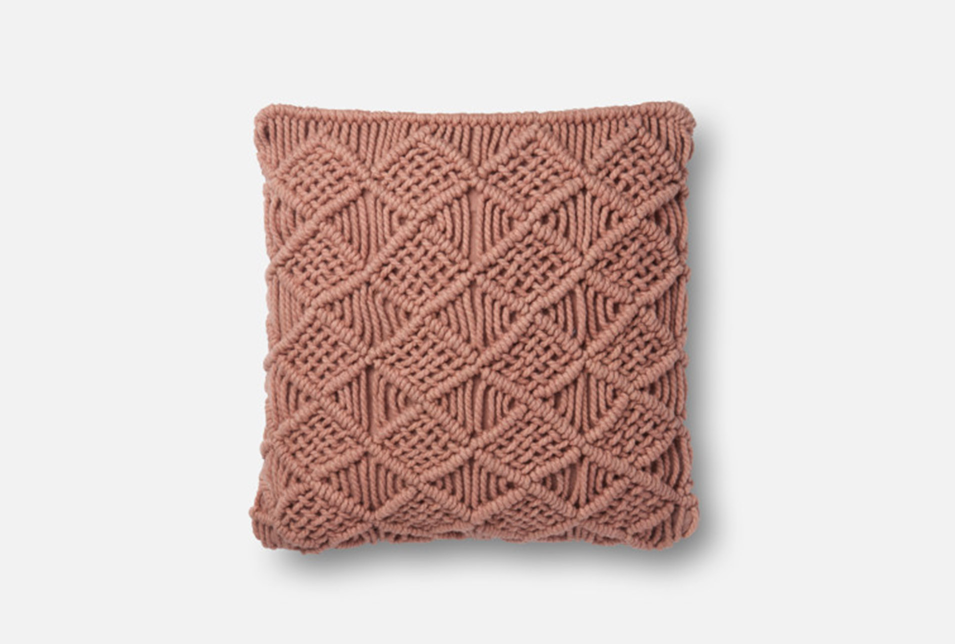 Accent Pillow-Magnolia Home Macrame Blush 18X18 By Joanna