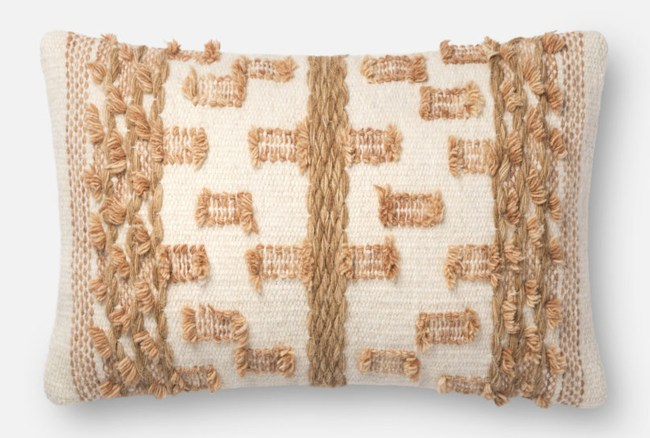 Accent Pillow-Magnolia Home Braided Bowtie Beige/Rust