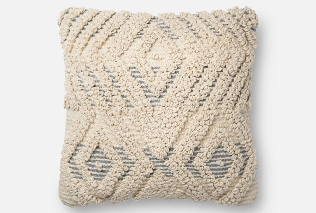 Accent Pillow-Magnolia Home Boucle Overlay Natural/Blue