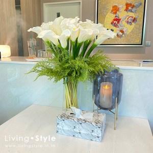 ดอกคาลล่า แจกันแก้ว คาลล่า คาร่า %%sep%% Livingstyle ตกแต่งบ้าน แจกันดอกไม้ ดอกไม้ปลอม ต้นไม้ปลอม ดอกไม้ประดิษฐ์ ต้นไม้ประดิษฐ์ สวนแนวตั้ง สวนหย่อม