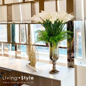 ดอกคาลล่าลิลลี่ คาลล่า แจกันคาลล่า สีขาว จัดแจกัน %%sep%% Livingstyle ตกแต่งบ้าน แจกันดอกไม้ ดอกไม้ปลอม ต้นไม้ปลอม ดอกไม้ประดิษฐ์ ต้นไม้ประดิษฐ์