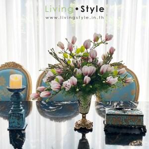 แมกโนเลีย ดอกแมกโนเลีย Magnolia สีชมพู แจกันดอกแมกโนเลีย 01