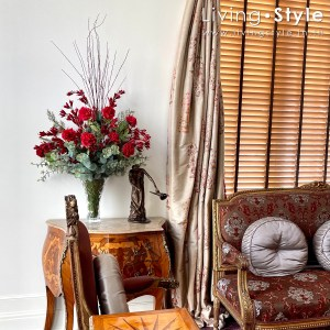 กุหลาบแดง กุหลาบฮอลแลนด์ ดอกกุหลาบ %%sep%% Livingstyle ตกแต่งบ้าน แจกันดอกไม้ ดอกไม้ปลอม ต้นไม้ปลอม ดอกไม้ประดิษฐ์ ต้นไม้ประดิษฐ์ สวนแนวตั้ง